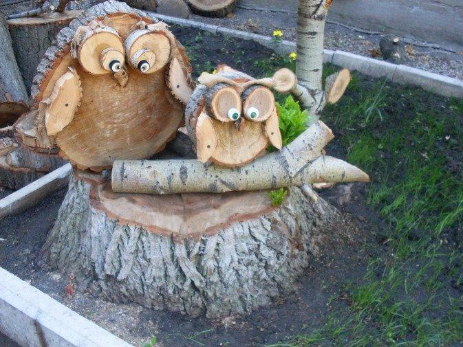 Поделки для сада из дерева своими руками все новинки