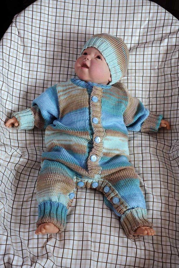 Вязание на малышей комбинезон 244