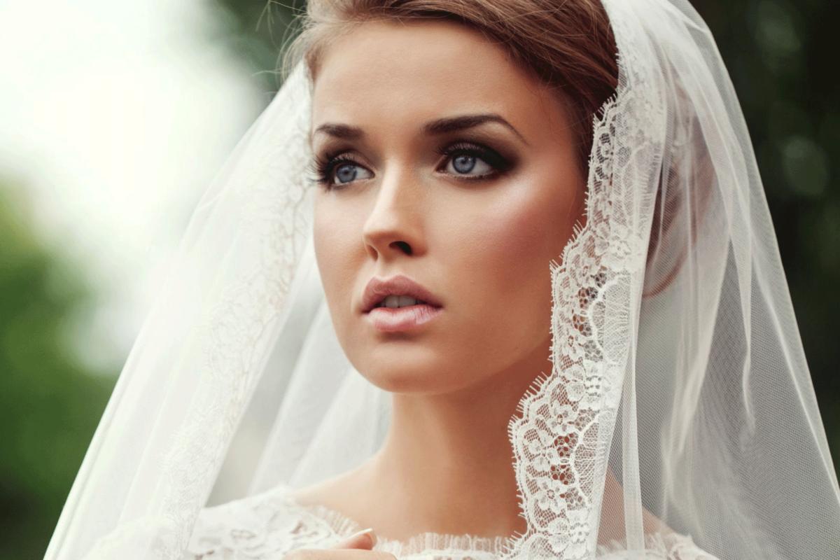 Свадебный макияж зеленые глаза русые волосы