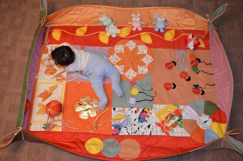 Развивающий коврик для новорожденного своими руками 61