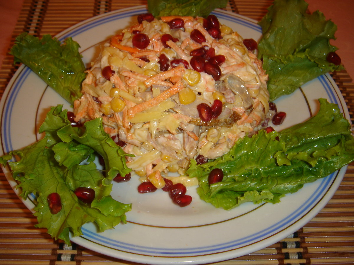 Рецепт салат копченая курица с ананасом пошаговый рецепт с