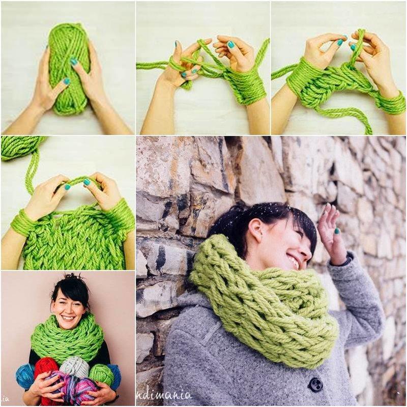 Легкое вязание на руках