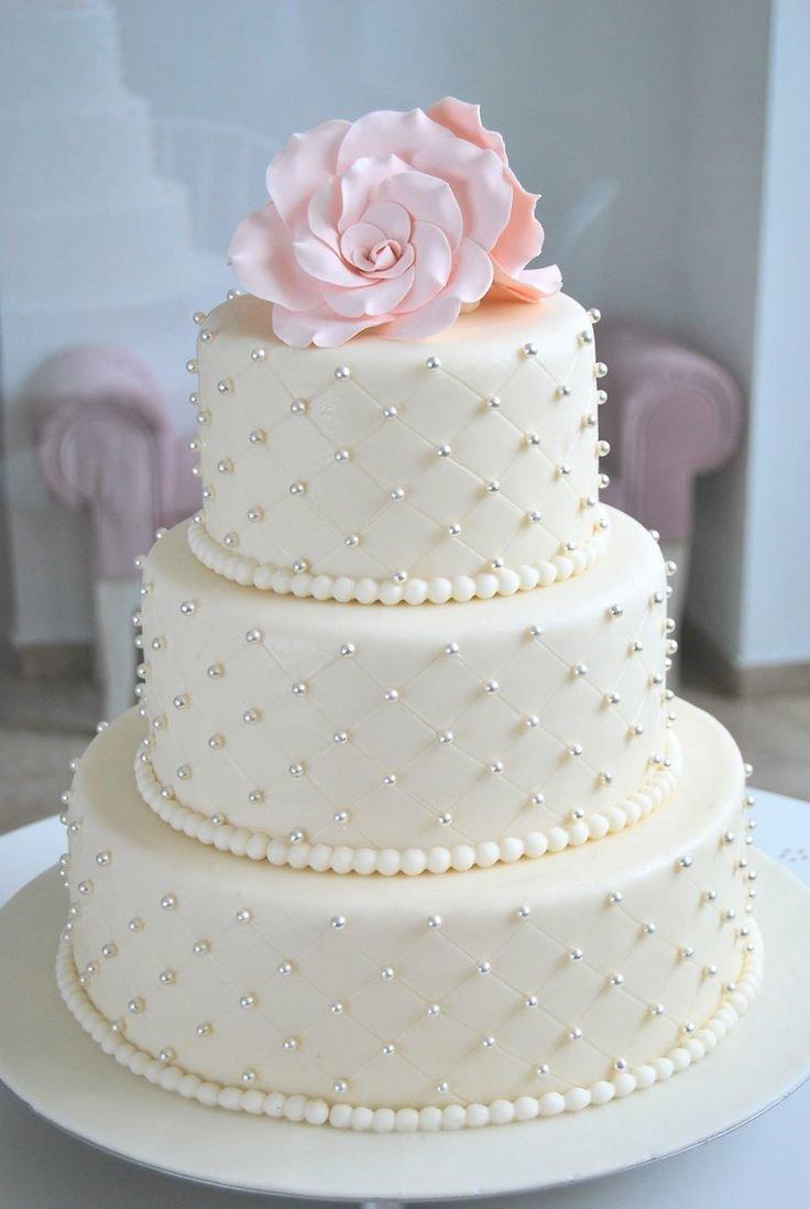 Фото торт кремовый к розовой свадьбе