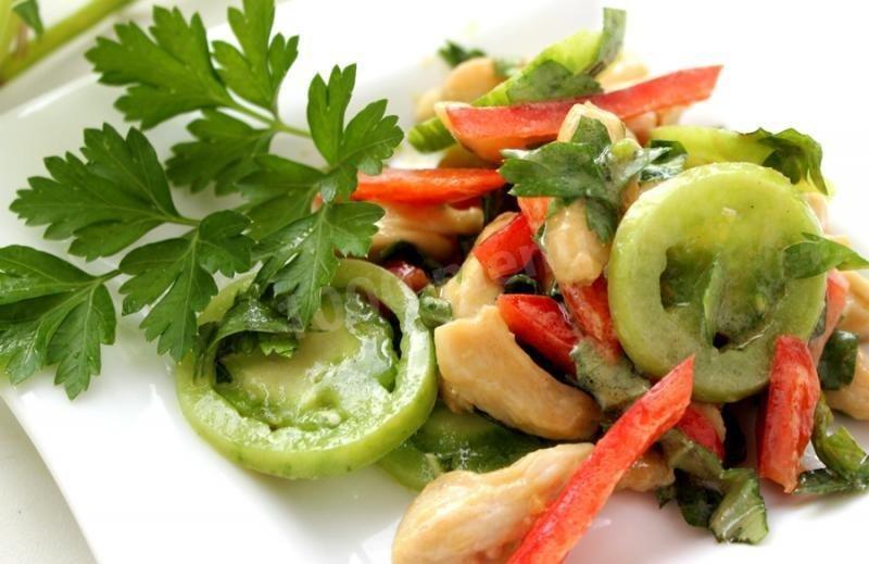Салат с курицей и болгарским перцем простой рецепт 34