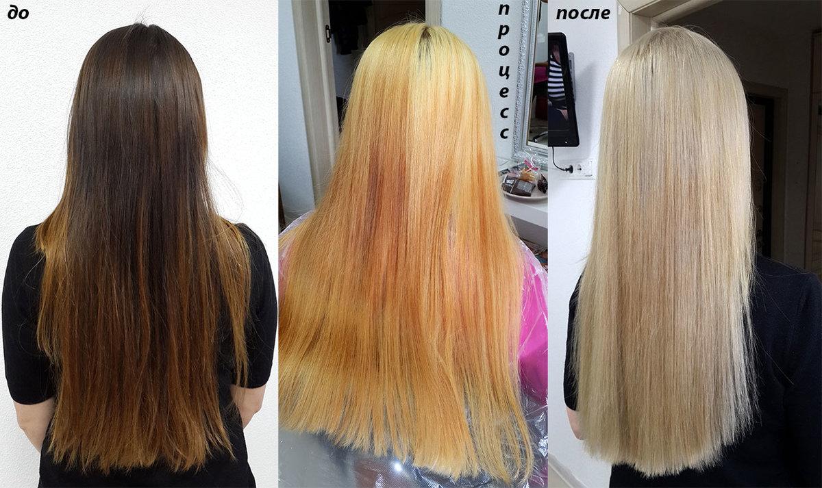 Как осветлить корни и сделать темнее волосы в