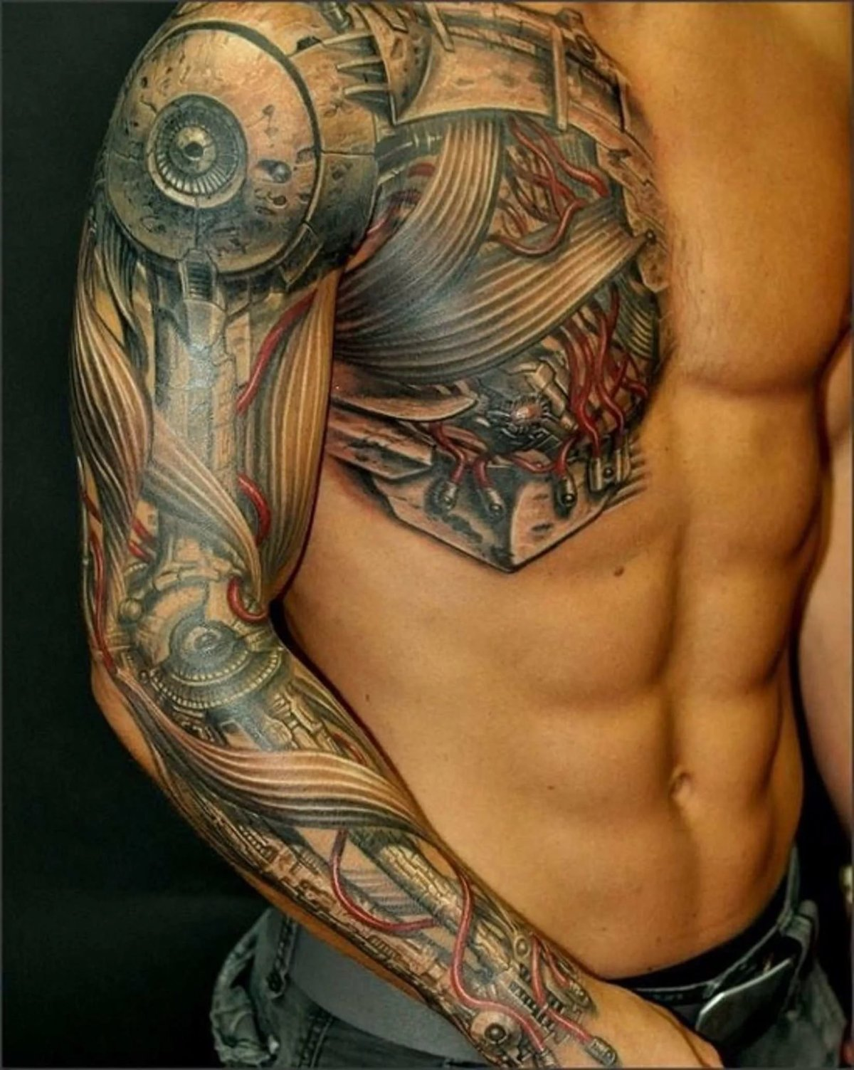 Фото цветных татуировок для мужчин на плече