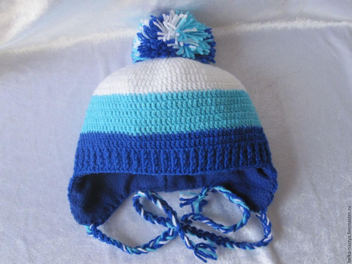 Детские шапочки, шарфики и береты спицами или крючком с 76