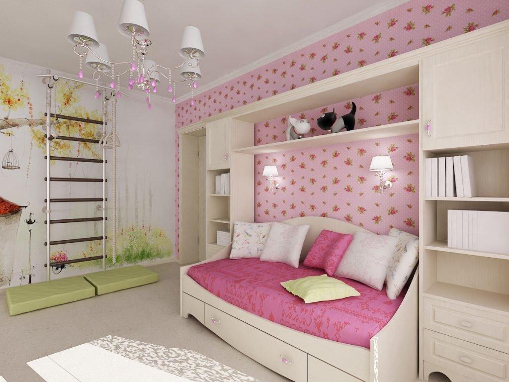 Как сделать дизайн детской комнаты для девочек 778