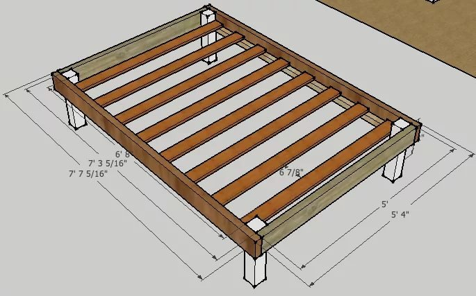 Как сделать кровать из дсп своими руками в домашних условиях фото и чертежи 82