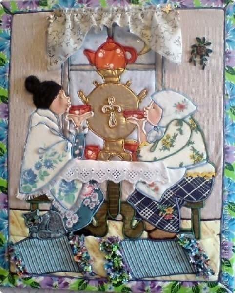Панно и картины из ткани своими руками