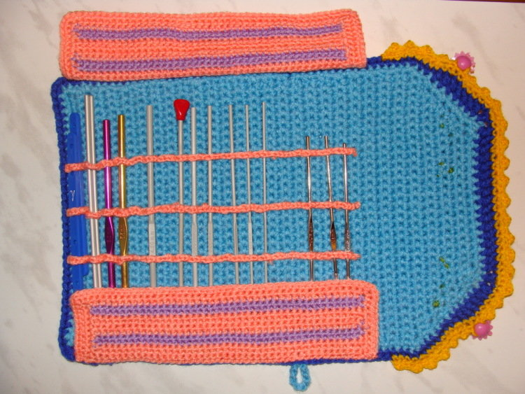 Чехол для крючков по вязанию