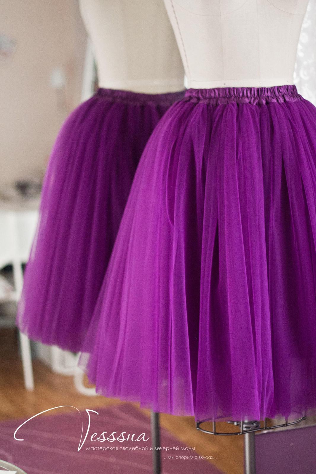 Как сшить юбку из сетки, из 16