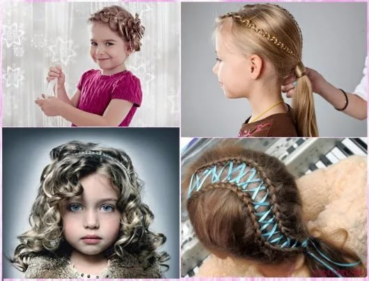 Прически для детей на средние волосы фото