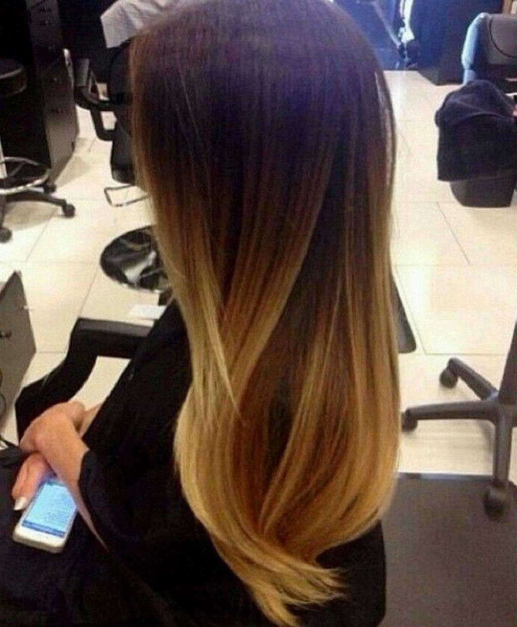 Окрашивание омбре: переход волос от темного к светлому 47