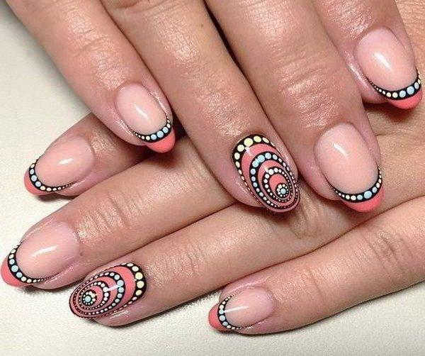 Рисунок на ногтях френч гель лаком новинки 2017 на короткие ногти