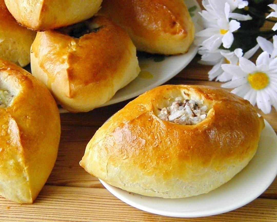 Рецепт пирожки с рисом с мясом пошагово