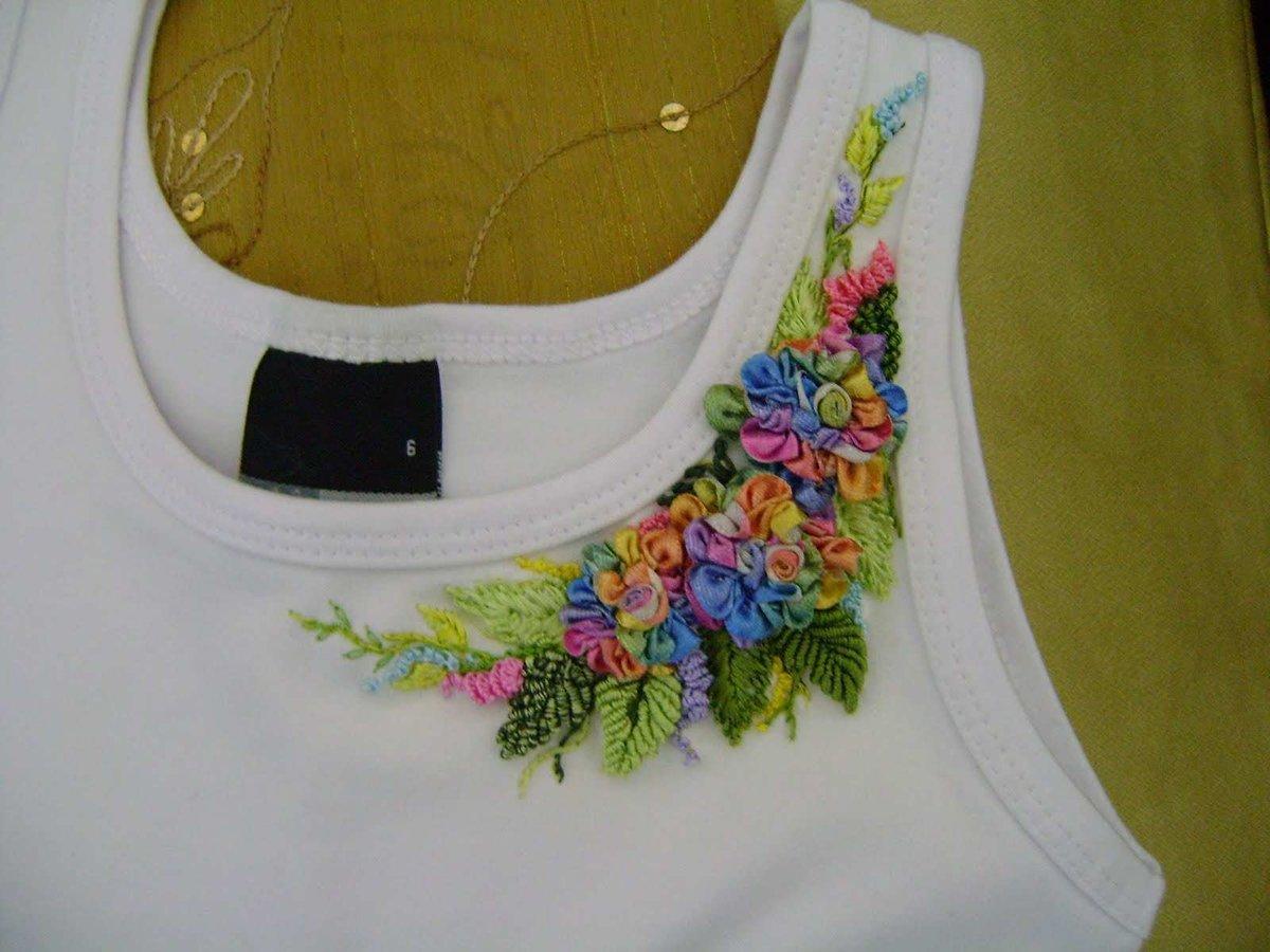 Вышивка бисером на футболке мастер класс 26