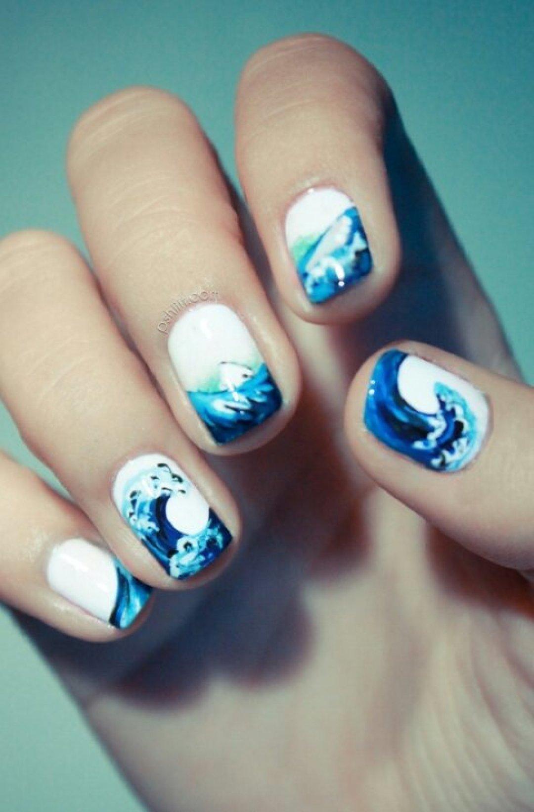 Дизайн ногтей морская тематика