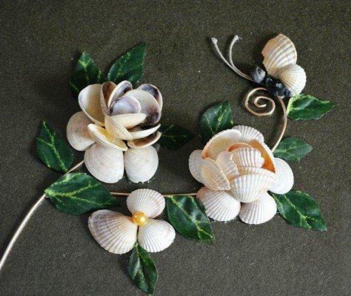Цветы из ракушек своими руками пошагово 12