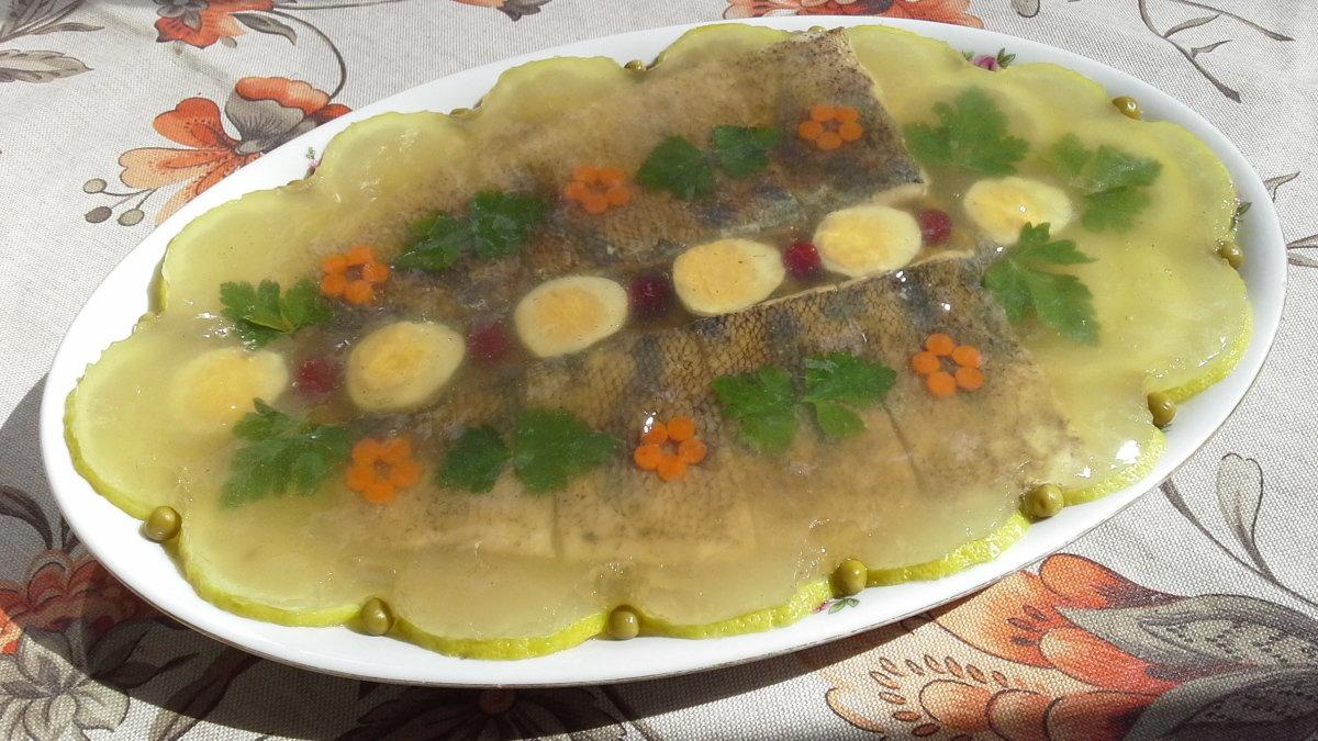 Заливное из рыбы с желатином пошаговый рецепт с фото