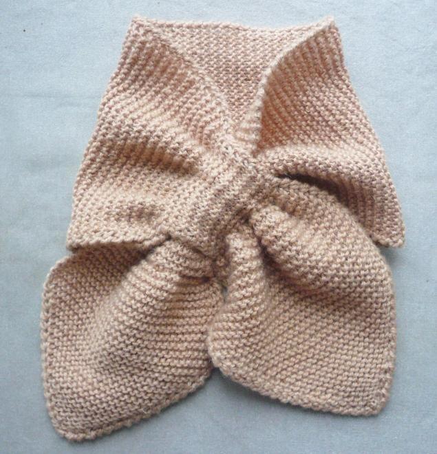Вязание шарф с петлей 311