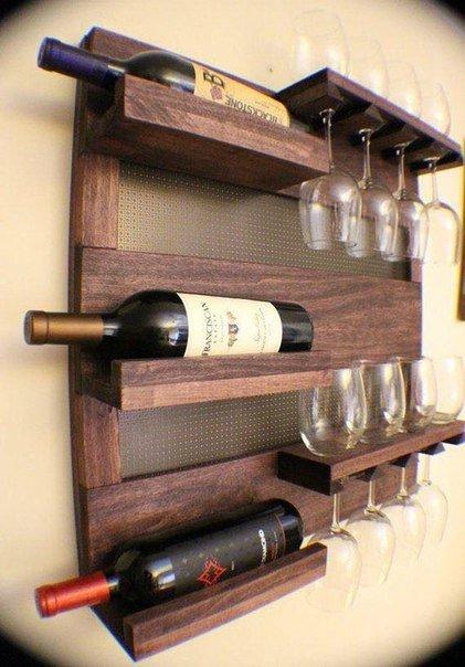 Полка для вина своими руками из дерева