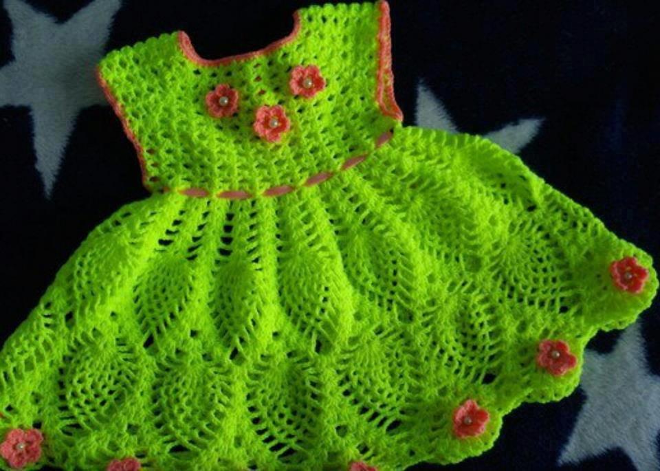 Вязание крючком детских платьев на 5 лет 306