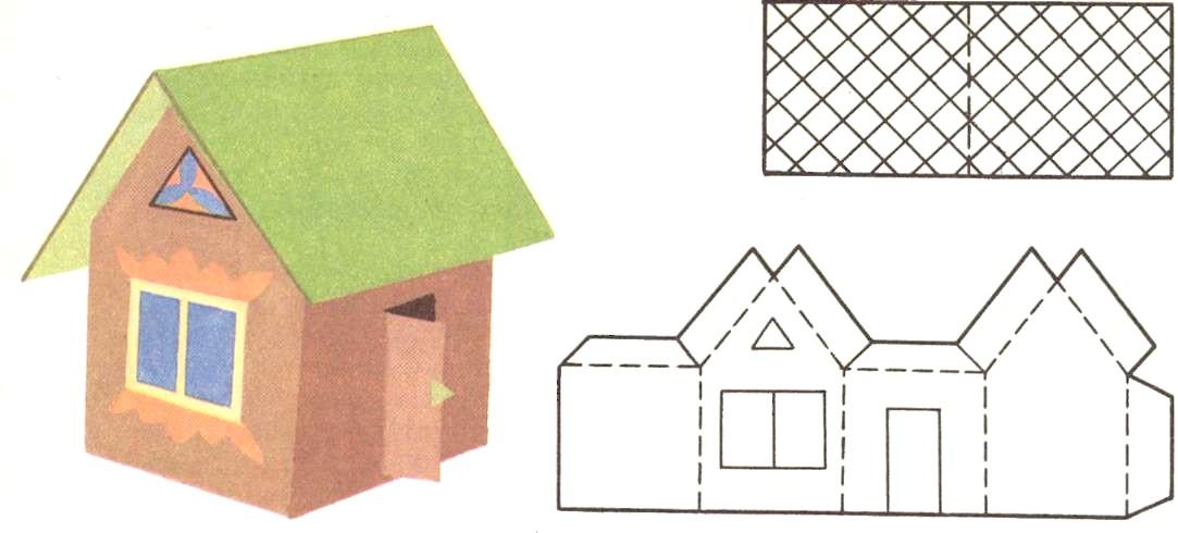 Как сделать бумажные домики своими