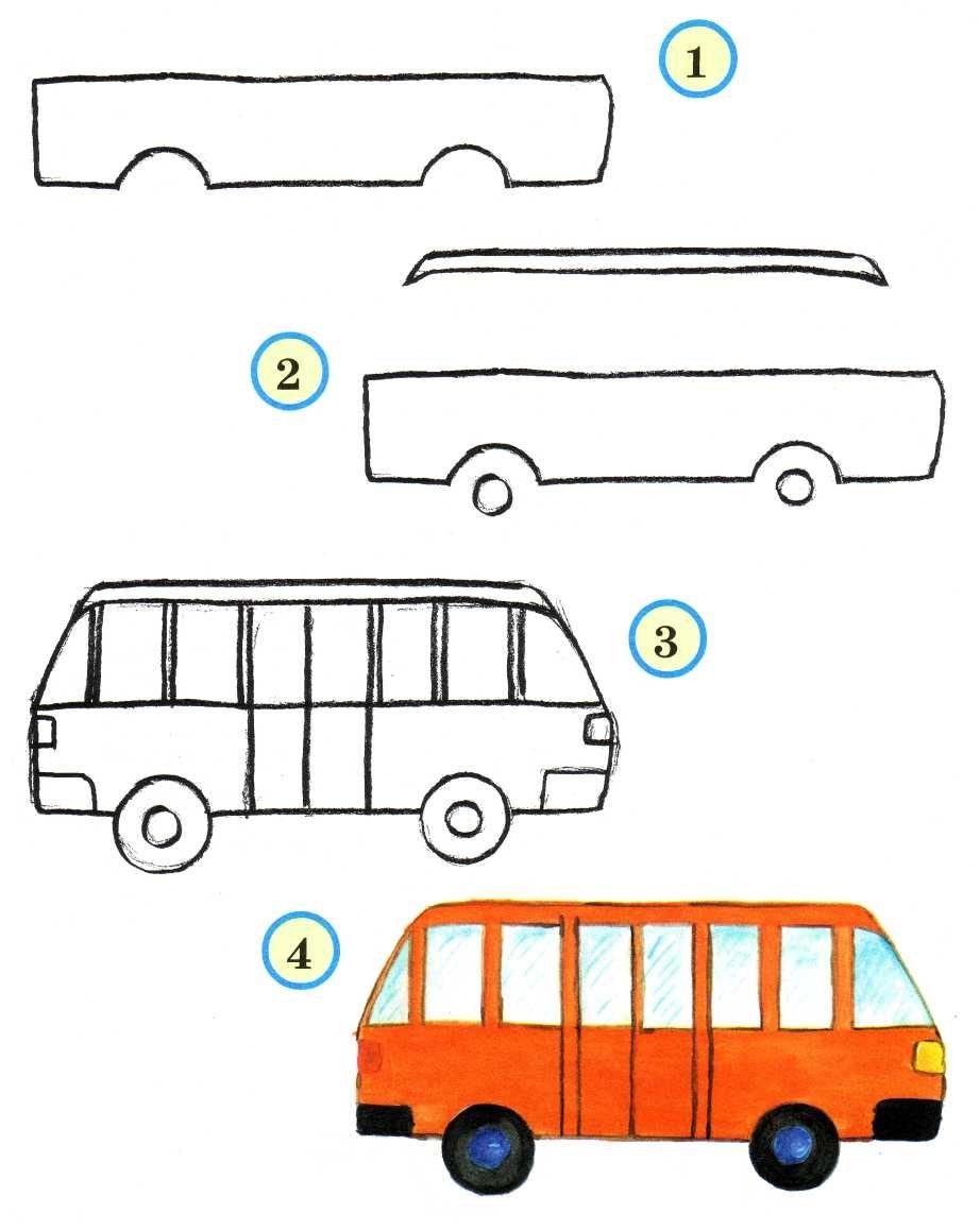 Как нарисовать машину ребенку фото