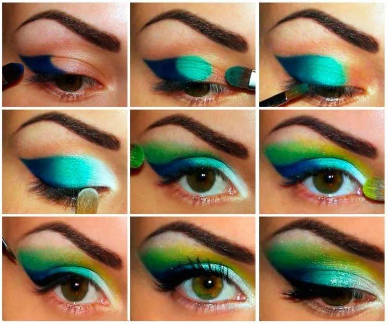 Макияж как сделать яркими глаза в 11