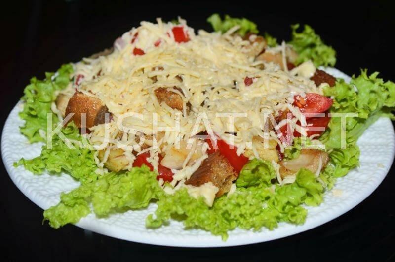 Салат цезарь с курицей пошагово с фото рецепт