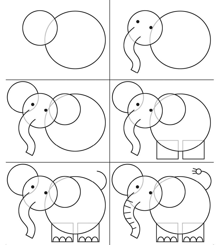 Нарисовать слона видео