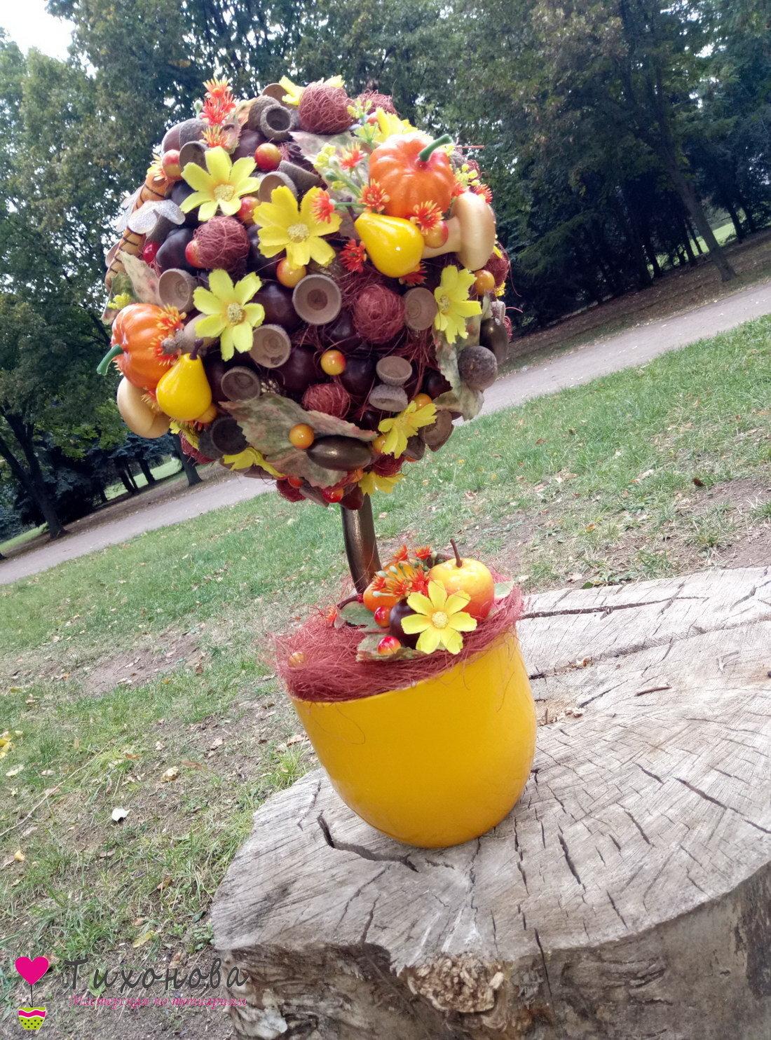Осенний топиарий своими руками фото 85