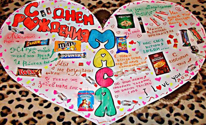 Плакат для подруги на день рождения своими руками 16