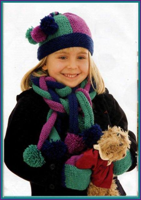 Осеннее вязание для девочки 153