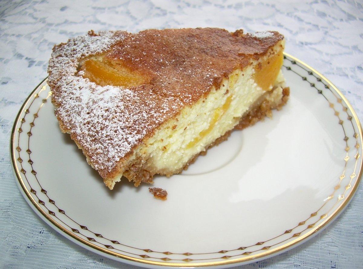Пирог из персиков рецепт пошагово