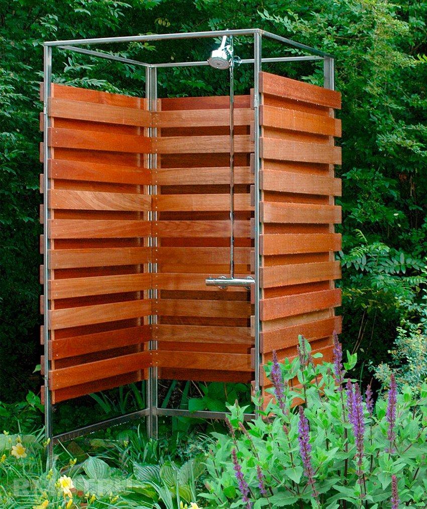 Строим летний душ на даче своими руками