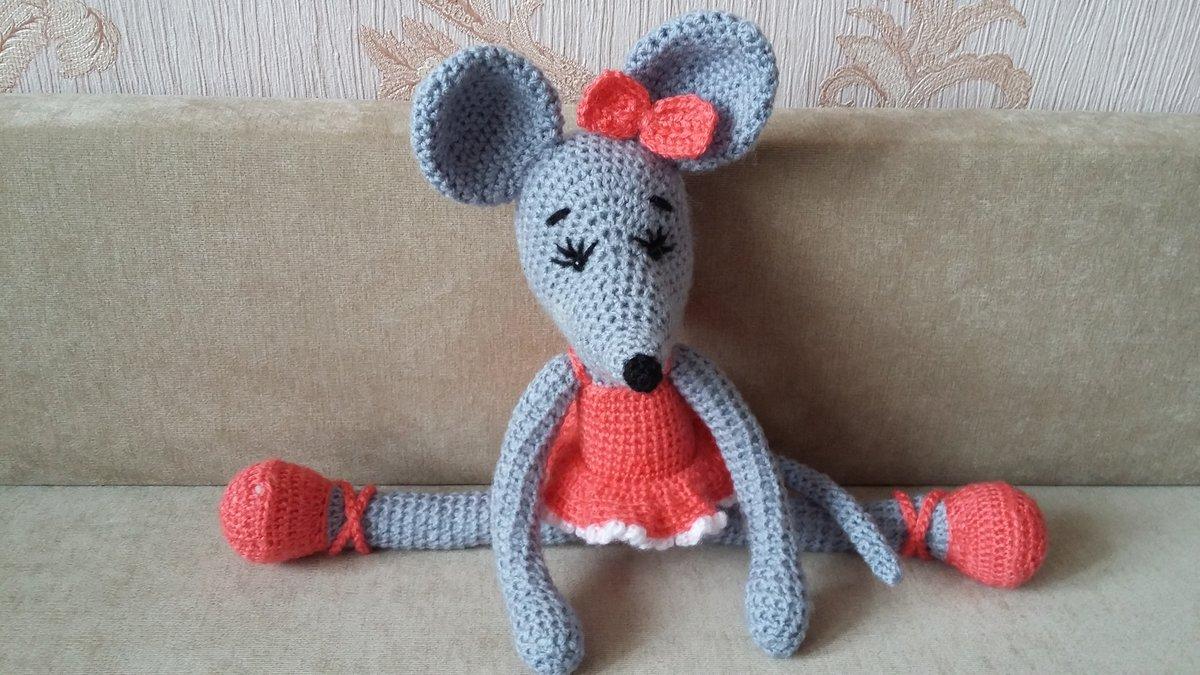 Вязание крючком для начинающих мышь