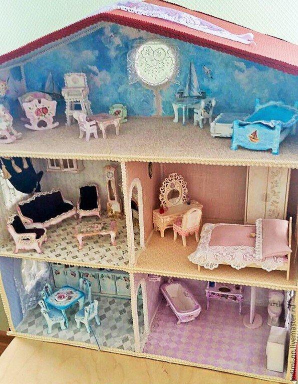 Кукольные домика своими руками и мебель для них 90