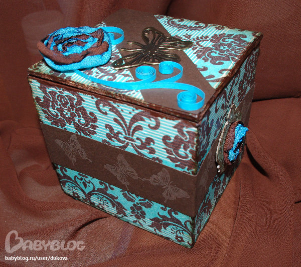 Картонная коробка своими руками декупаж 5