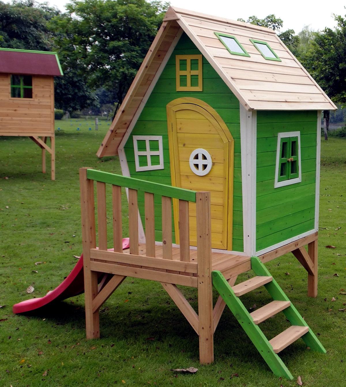 Домик на столбах для детей фото