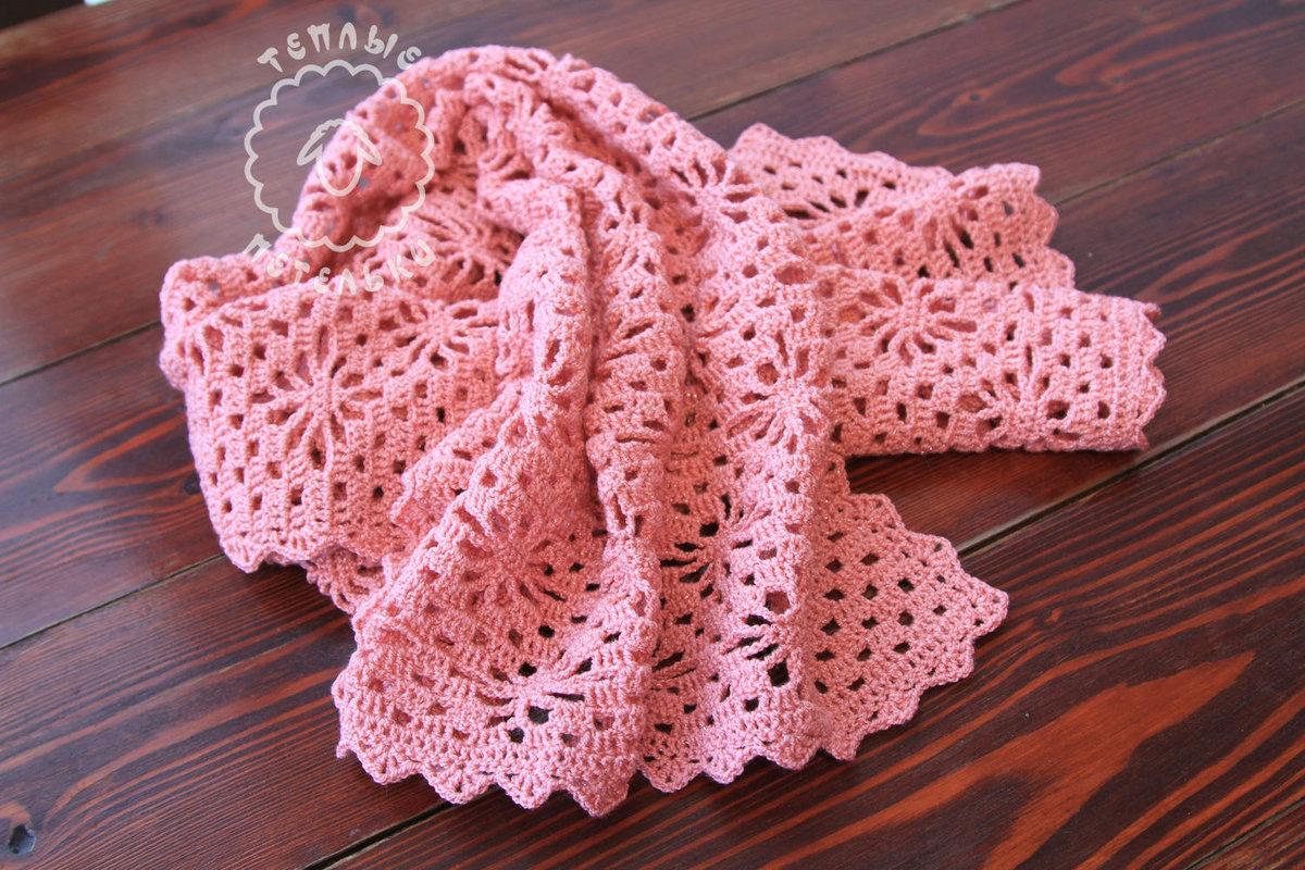 Видеоуроки вязание ажурного шарфа
