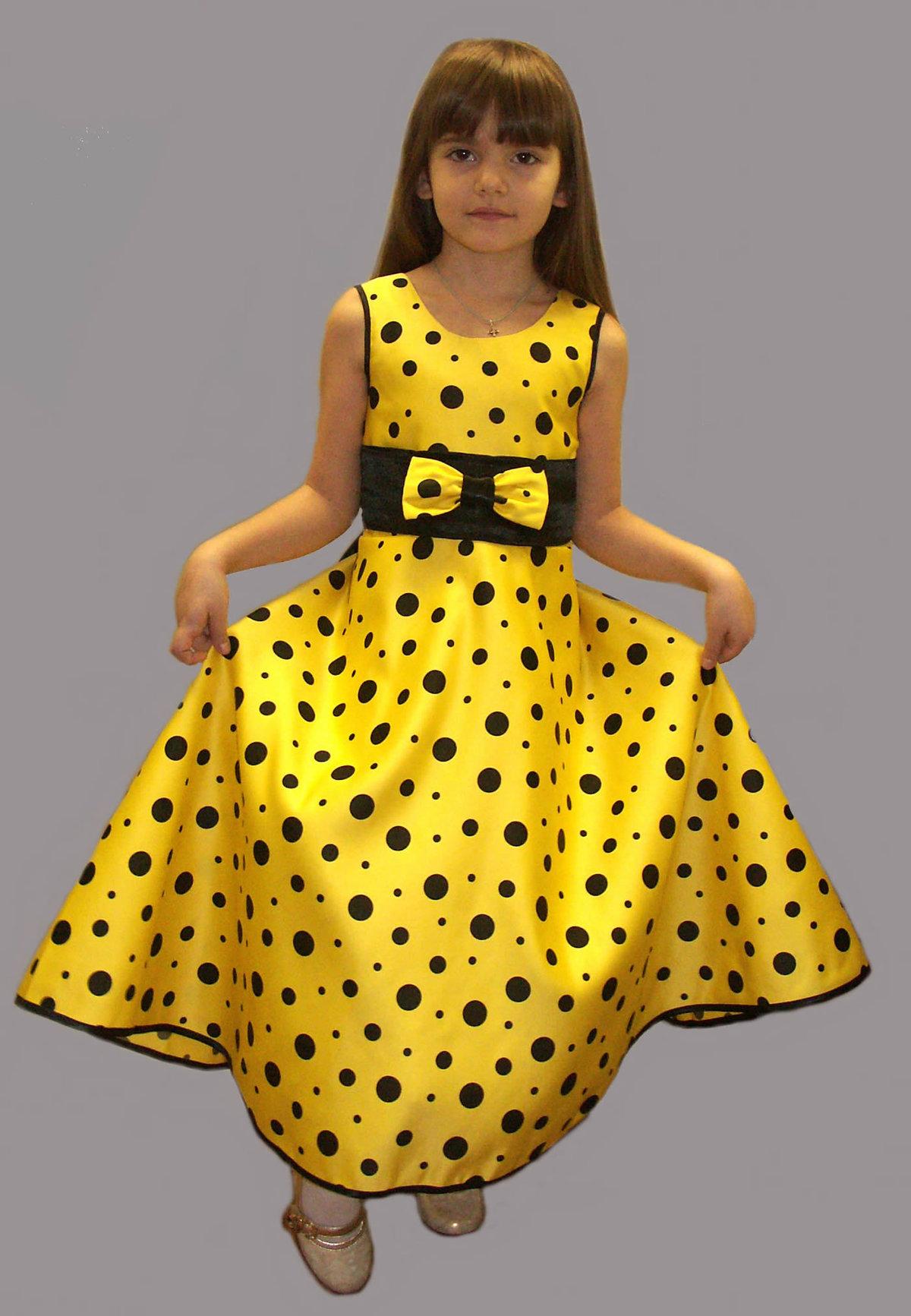 Платья в горох для детей