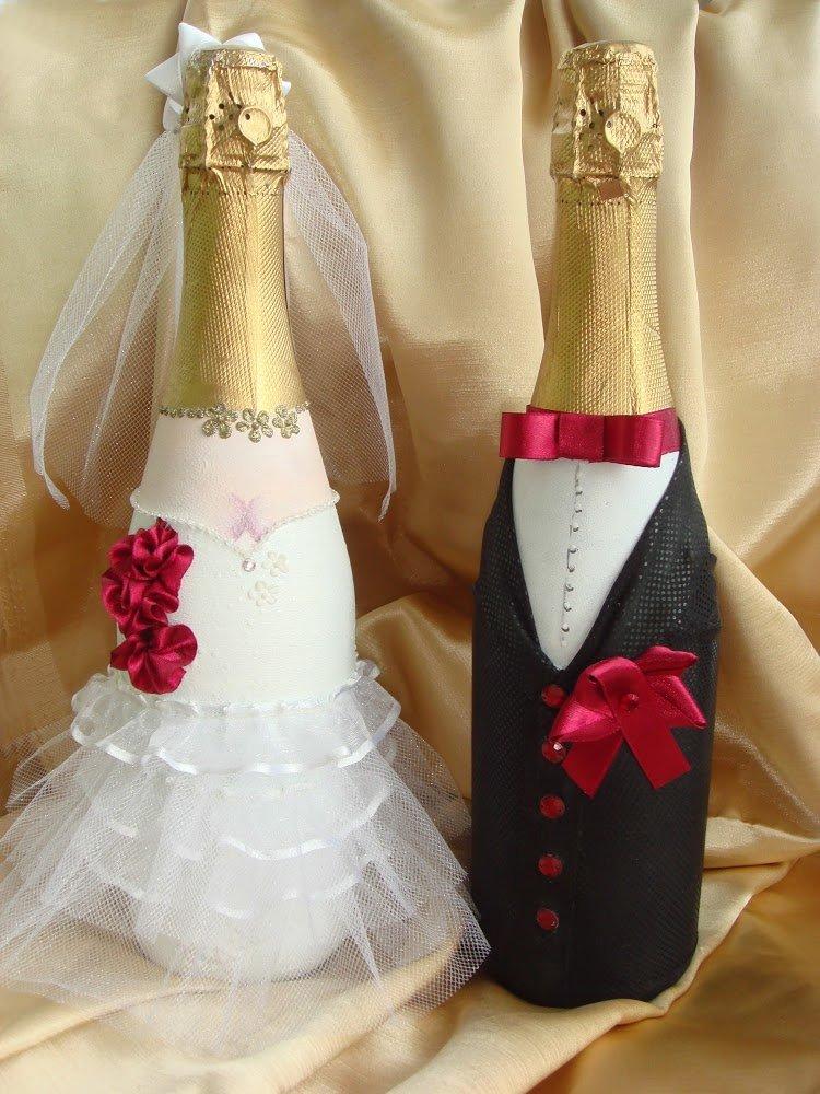 Бутылки для молодых на свадьбу