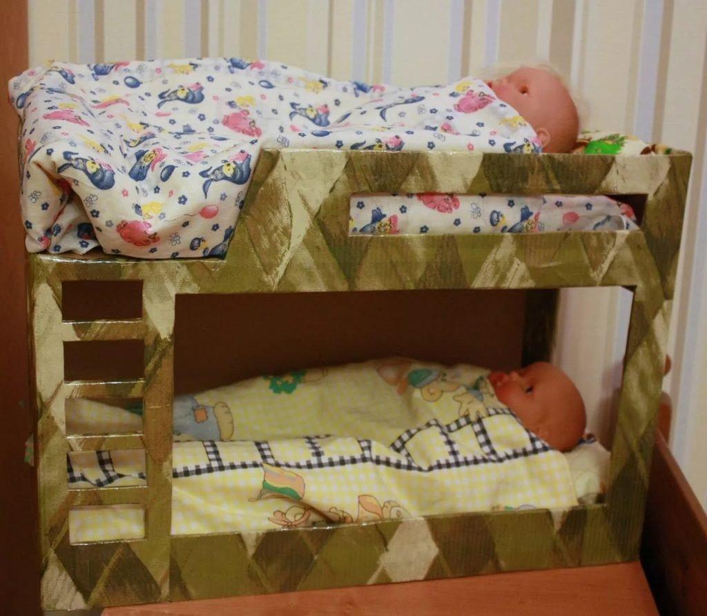 Кровати для куклы своими руками 56