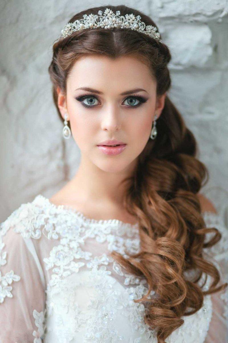 Фото свадебных причесок с фатой греческого стиля