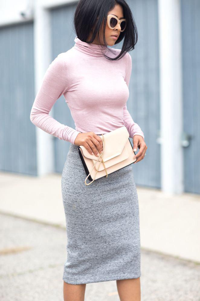 С чем носить трикотажную юбку: идеальные луки для всех
