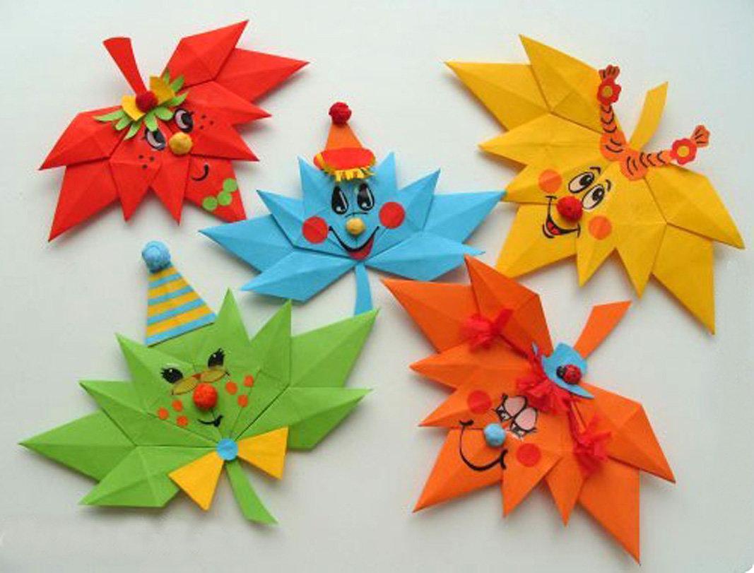 Как сделать оригами из бумаги осенний лист 174