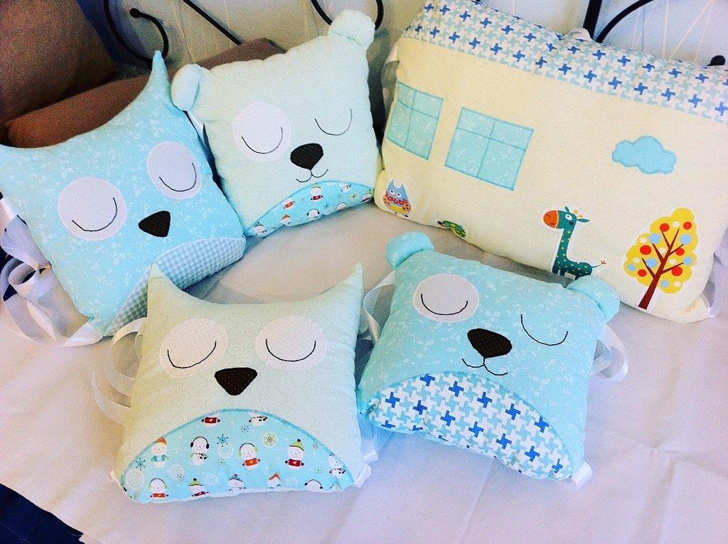 Детская подушка своими руками в кроватку 57