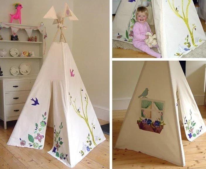 Как сделать игрушечную палатку своими руками 55